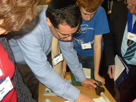 Limmud Rabbi David Meyer with the new Shoah Scroll
