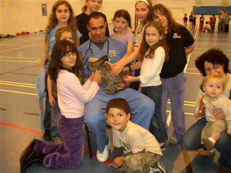 Limmud Raham with rabbit and friends